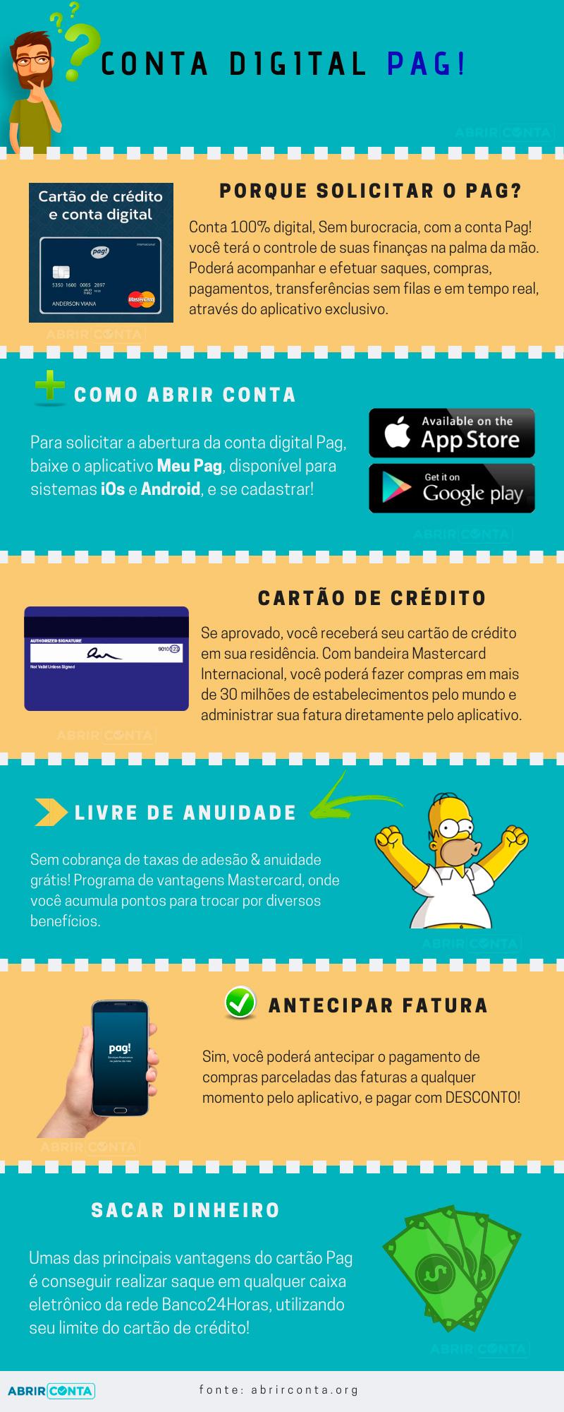 Abrir Conta e Cartão de Crédito Pag!