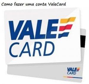 como fazer uma conta vale card