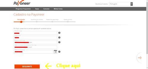 cartao-pre-pago-mastercard-payoneer-passo-3