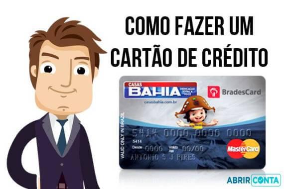 CARTÃO DE CRÉDITO CASAS BAHIA Como fazer o seu