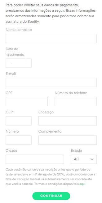 como-assinar-spotify-dados-de-pagamento