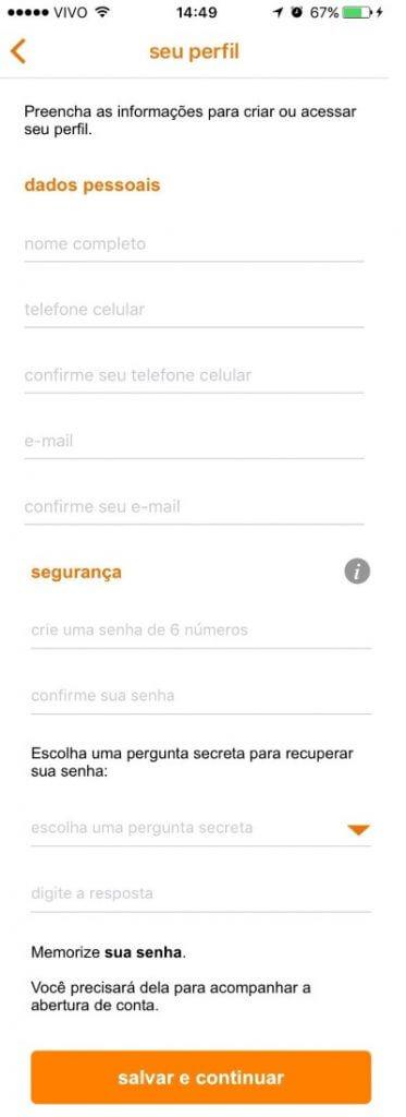 como-abrir-conta-corrente-itau-pelo-celular-passo-3