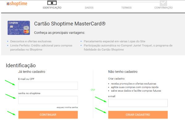 como-fazer-cartao-credito-shoptime-passo-2