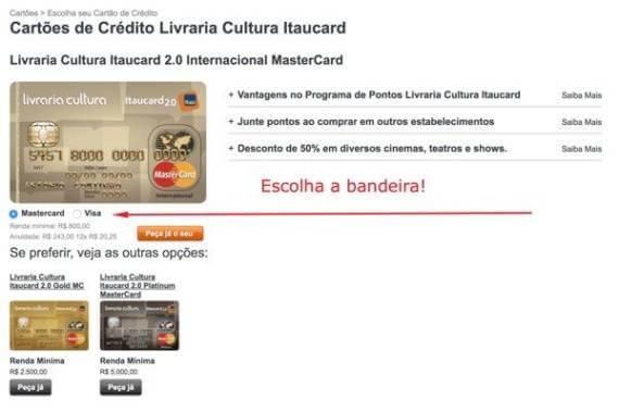 Solicitar Cartão de Crédito Livraria Cultura • Abrir Conta