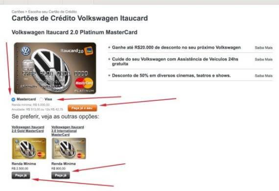 Como Solicitar Cartão de Crédito Volkswagen • Abrir Conta